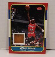 Michael Jordan 07-08 Fleer 1986 Rookie College Game Used Floor Card RCF PSA MInt