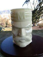 Vintage White Glass Avon Baseball Mug- Casey at the Bat Mudville- Baseball- 1980