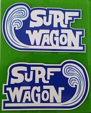 New listing 2 x Surf Wagon Vinyl Sticker Decal Longboard Surfing Surfboard Rat Fink Surf Vw