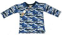 Baby Boys River Island Camo Print Sweatshirt Jumper Sizes 3-6 Months,9-12 Months