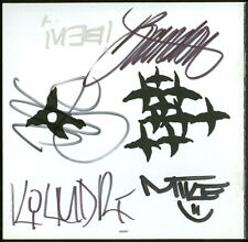 INCUBUS Autographed Signed Crow Left Of The Murder CD Insert By Full Band All 5