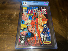 THE NEW MUTANTS #98 CGC 9.0 VF- NEAR MINT 1991 WHITE PAGES FIRST APP DEADPOOL