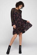 $New Women's Bcbg Romantic Field Faux-Cami A-Line Dress SZ S Black