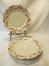 Royal Schwarzburg Germany Pink Rose Floral Swag Three (3) Luncheon Plates
