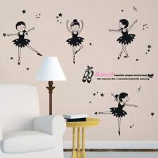 Wall sticker adesivo parete ballerina ballerine balletto danza bambina cameretta
