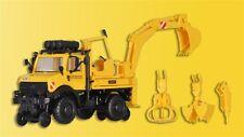 Kibri 16307 H0 LKW Zweiwege Unimog mit Heckbagger