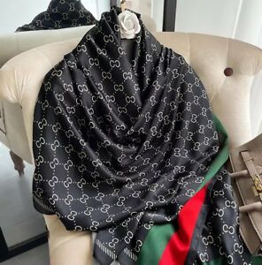 Designer Inspired Silk Scarf Premium Luxury Hijabs Neck Scarf Shawls Wraps Bold