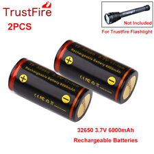 2PCS/lot TrustFire 32650 6000mAh PCB Protection Li-ion Battery For Flashlight us