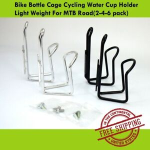 Bike Bottle Cage Cycling Water Cup Holder Light Weight For MTB Road(2-4-6 pack)