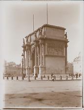 France, Marseille, Place Jules-Guesde, porte d'Aix, Arc de Triomphe  Vintag