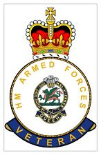 Classic HM Armed Forces The Queens Regiment Veterans specific Sticker