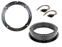 Skoda Fabia Front and Rear Door Speaker Adaptor Rings Spacers Kit 165mm 6.5""