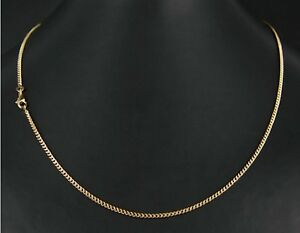 Chain Mesh Curb Gold Plated 18 Carat 55 CM X 2mm Jewelry