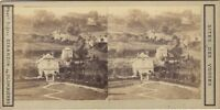 Foto Gervais Eugene A Plombières Vosges Francia Stereo Vintage Albumina Ca 1865