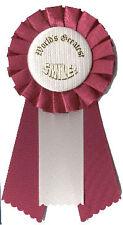 World's Greatest Smile: Pin-On Mini Rosette