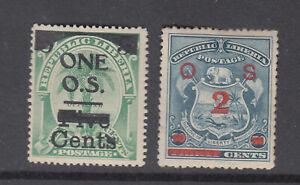 Liberia # O44-45 MINT Complete 1904 Surcharge Set