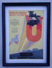 Art Deco Car Zenith carburetor Advert 1929 Original Framed Superb Condition