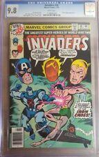 1979 Invaders 36 CGC 9.8 WWII Iron Cross Sub-Mariner Liberty Legion Cover RARE
