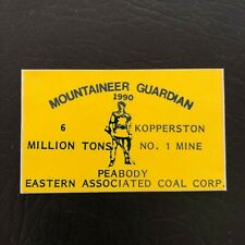 New listing Nice! Peabody Coal Company Coal Mining Sticker Hard Hat Decal Rare Vintage Old