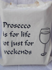 Cotton Tote Bag for prosecco drinkers gift for birthday present