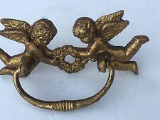 Cherub Angel Drawer Knob Cabinet Pull Metal Vintage Gold