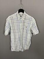 LACOSTE Short Sleeved Shirt - Medium - Check - Great Condition - Men's