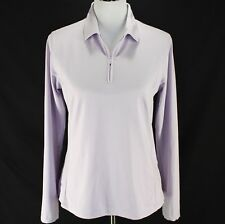 4822681b9aa81 Lady Hagen Pullover Sz M Light Purple 1 4 Zip Long Sleeve Top Athletic Golf