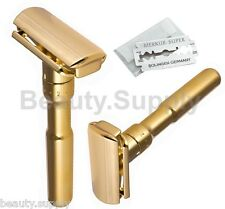 Merkur Futur 702 Adjustable Polished Gold Double Edge Safety Razor