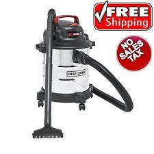 Craftsman Stainless Steel Wet Dry Vac 5 Gallon Vacuum Cleaner 3 Peak HP Blower