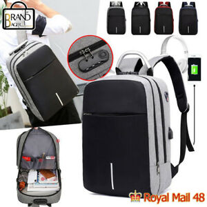 USB Charging School Bags Unisex Anti Theft Laptop Backpack Travel Multifunction