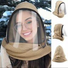 Winter Season Full Face Outdoor Sports Adult Headwear Scarves Transparent Hooded