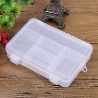 Clear Plastic Hard Plastic Storage Box Jewelry Earring Pill Box M7U2
