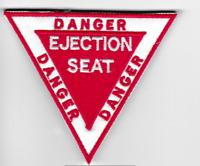 [Patch] DANGER EJECTION SEAT 9X8 cm toppa ricamata ricamo REPLICA -480