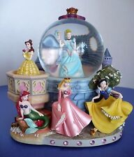 Disney Large Princess Snow Water Globe Music Box. A Dream Is A Wish...
