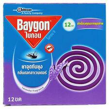 SC JOHNSON BAYGON LAVENDER MOSQUITO REPELLENT - 12 COILS - FREE TRACKABLE P&P!!!