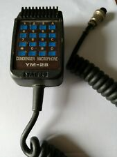 YAESU YM-28 CONDENSER MICROPHONE RADIO HF VHF UHF ORIGINALE YAESU RADIOAMATORI