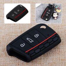 Remote Key Case 3 Button Cover Silicone Bag Holder for Volkswagen VW Golf 7 Mk7
