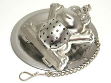 Stainless steel frog shaped tea infuser with tray