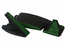 FITS BMW E36 E46 LEATHER ARMREST COVER&GAITERS BLACK D GREEN