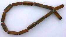 13x4 13mm x 4mm Rectangle Gemstone Gem Stone Bamboo Jasper Beads 7 Inch Strand