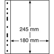 326667 Leuchtturm Hüllen OPTIMA 1S, 1er Einteilung, schwarz, 10er Packung