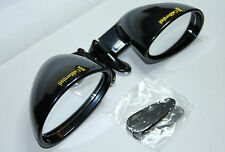 2 x CLASSIC SPORT WING MIRRORS VITALONI CALIFORNIAN PIANO BLACK BRAND NEW