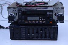 Vintage 1980s Sansui RX-700 Cassette Stereo and Daytron Car Equalizer E-5301