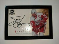 2017-18 UD The Cup The Show STEVE YZERMAN Auto SHORT PRINT Red Wings Shadow Box