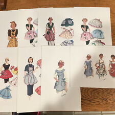 Art Prints of Vintage Apron Pattern Pictures - on Watercolor Paper -- 10 - #2