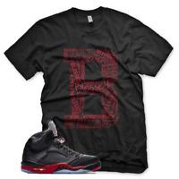 """New Black """"B"""" BLESSED T Shirt for Jordan Retro 5 Satin Bred"""