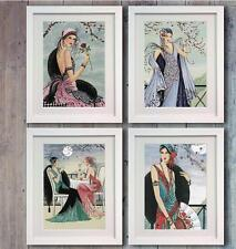 DISNEY Set 4 Deco Lady Donna POSTER FOTO PRINT PHOTO wall art arredamento regalo