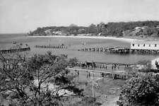 PORT STEPHENS Nelson Bay NSW 1920-40 Aerial modern digital Postcard