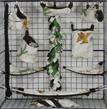Real Tree Winter*15 Pc Sugar Glider Cage set * Rat * double layer Fleece