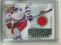 2010-11 Upper Deck Series 2 Evgeni Grachev Rookie Materials Jersey Rangers